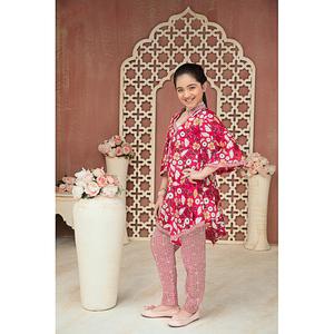 Sitara Studio 2 Pcs Unstitched Sapna Lawn Suit for Women 6140 A Pink