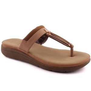 Women Naveen Toe Post Flat Evening Slippers - L290 ...
