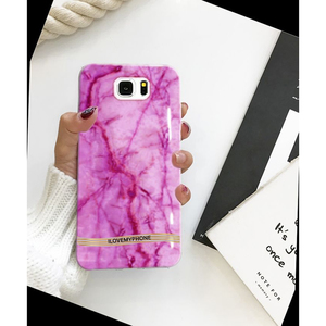Samsung S7 Marble Style Mobile Cover Pink