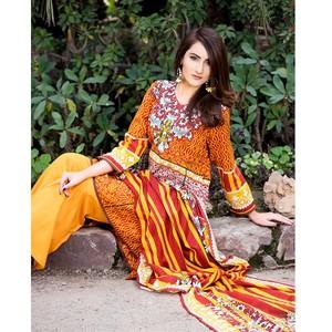 4 Pcs Unstitched Lawn For Women Sapna Lawn-5173 Mu ...