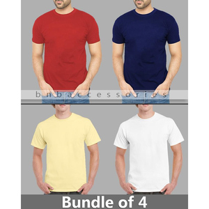 BNB Accessories Pack of 4 T-Shirts for Men BAD-889 Multicolor