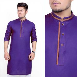 Stitched Kurta for Men Purple