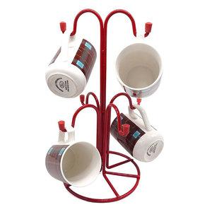 Verdi Deluxe Quality Freestanding Mug Tree TECGRON175 Red
