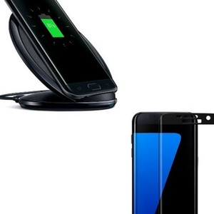 Pack of 2 S7 Edge Fast Wireless Charger & 4D T ...