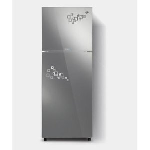 PEL Inverter Curved Glass Door Refrigerator PRINVOGD 2350 Silver