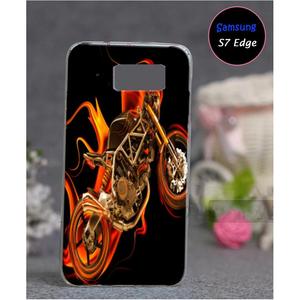 Samsung S7 Edge Bike Style Mobile Cover Multi Color