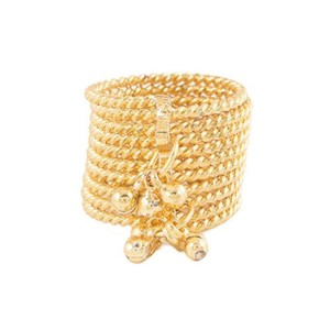 Challa Style Ring for Unisex J090 Golden