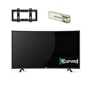 Icon 32 Inch Full HD Curved LED TV With Wall Mount & 32 GB USB Black