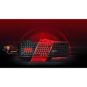 Bloody B3590R 8 Light Strike Mechanical Gaming Keyboard Black & Red