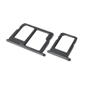 Sim Tray + MicroSD Jacketfor Samsung J7 Prime Black