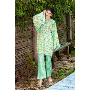 Sitara Studio 2 Pcs Unstitched Sapna Collection Lawn Suit for Women 6111 C Green