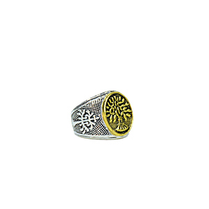 YNG Imported Ring for Men YAR-GT Silver & Gold