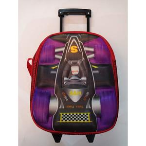 Slider 2D Wheel Car Style School Bag(Nursery Prep) Class Purple