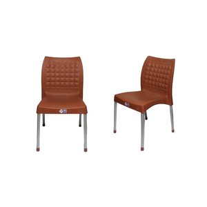 Venus Plastic Res Relaxo Chair With Steel Legs Set Of 2 TBL-TRL-113 Brown