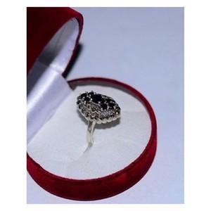 GILGIT BAZAR Sapphire Real Stone Ring GB433 Black ...