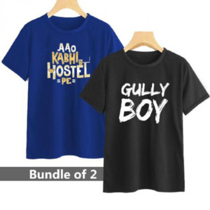 Pack of 2 T-Shirt for Unisex Multicolor