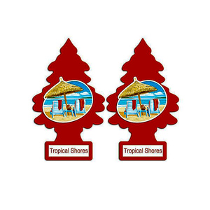 Pack Of 2 Hanging Tree Air Freshener Cr-556 Red