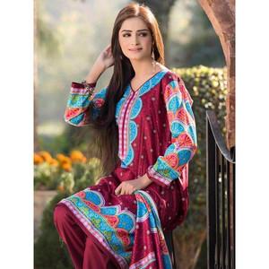 4 Pcs Lawn Suit for Women Unstitched 5147A - Maroo ...