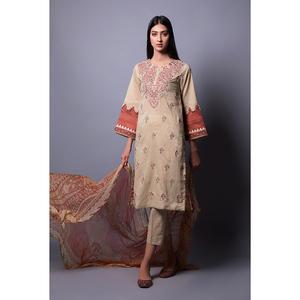 Oaks 3 Pcs Unstitched Suit for Women OLEC-3298-A Multicolor