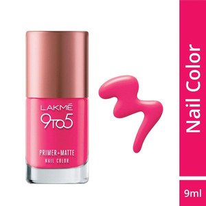 Lakme 9 To 5 Primer + Matte Nails Fuchsi ...