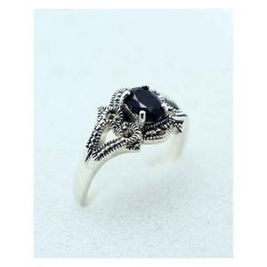 GILGIT BAZAR Sapphire Stone Ring GB1895 Black
