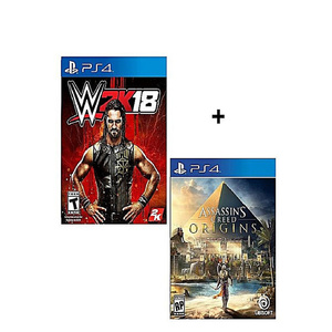 Pack Of 2 WWE 2K18 , Assassin's Creed Origins For PS4