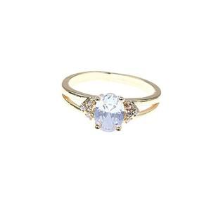 Jewellery Hut Gold Plated diamond cut zircon ring ...