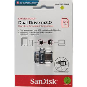 SanDisk Ultra Dual Drive m 3.0 - 128GB USB Black & Silver