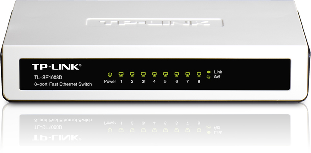 Tplink 8 Port 10/100 Switch Tl-Sf1008D White