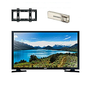 Icon 24 Inch LED HD LED TV With Wall Mount & 32 GB USB Black