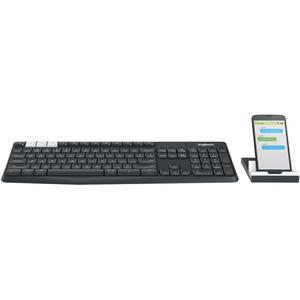 Logitech Multi-Device Wireless Keyboard & Stand Combo K375S Black