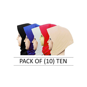 Pack of 10 Hijab Caps for Women SAS-HC-158 Multicolor