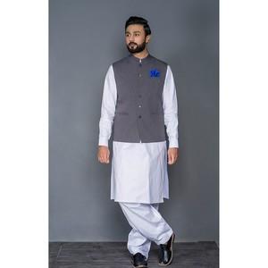 Sitara Studio Waist Coat for Men WAIST1-GRE Grey