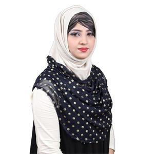 Jersey Hijab For Women Pnl003 White & Blue