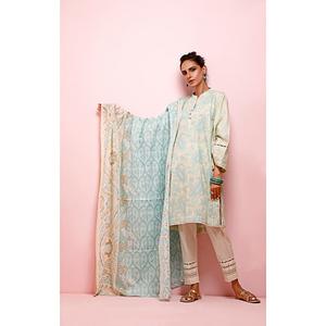 Oaks 2 Pcs Unstitched Suit for Women OL2P-3497-B Ferozi Blue
