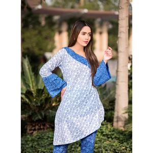 Sitara Studio 2 Pcs Unstitched Sapna Lawn Collection 6117 C Blue