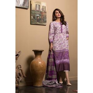 Oaks 2 Pcs Unstitched Khaddar Printed Suit For Women OWKH2P-3236-B Multicolor