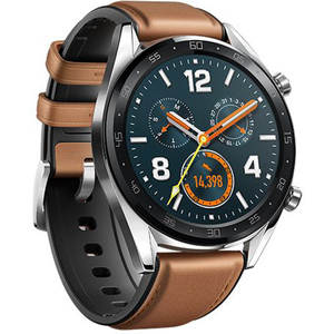 Huawei Stainless Steel Watch GT Classic Saddle & Hybrid Strap Brown