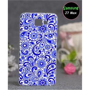 Samsung J7 Max Floral Cover SA-795 Blue