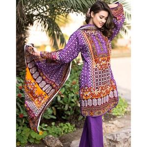 4 Pieces Unstitched Sapna Lawn Suit 5170-B for Wom ...