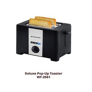 Westpoint 2 Slice Popup Toaster Wf2561 Black