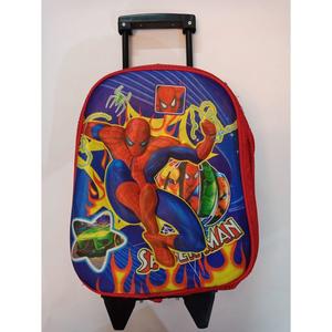 3D Slider Spiderman School Bag (Nursery Prep) Class Multicolor