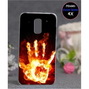 Xiaomi Redmi 4X Fire Style 2 Mobile Cover Red