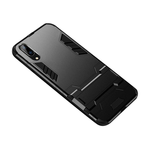 Rugged Armor Hard Hybird Silicone Back Cover Case for Huawei P20 Lite Black