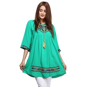 Frock Style Embroidered Kurti For Women NOON-194 G ...