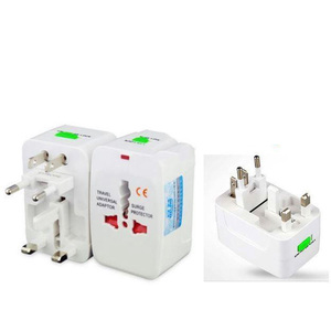 All In 1 Universal Worldwide Travel Wall Charger Plug Adapter White