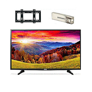 Icon 32 Inch Full HD LED TV With Wall Mount & 32 GB USB Black