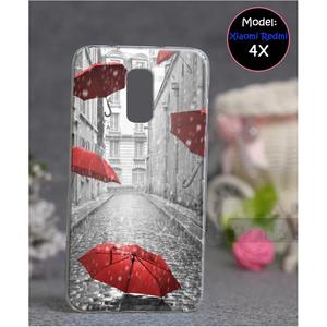 Xiaomi Redmi 4X Rain Style 4 Mobile Cover Multi Color