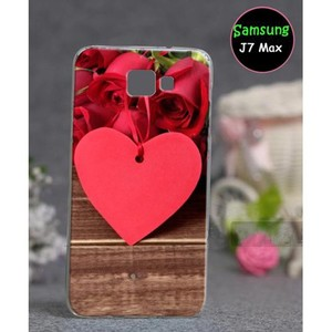 Samsung J7 Max Love Style Mobile Cover SA-3043 Red