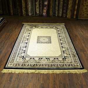 Silky Traditional Rug Square Centre Motif Multicolor